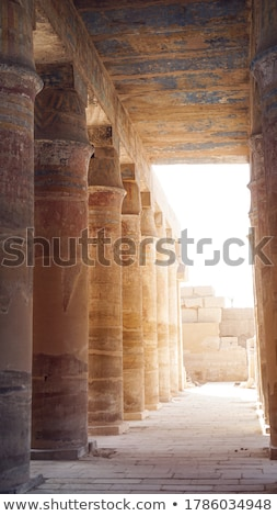 Colourful hieroglyphs in Karnak Stock photo © eleaner