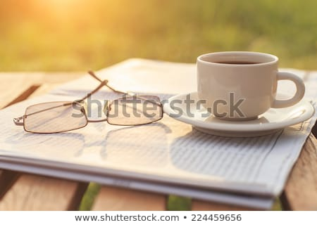 cup of coffee and the newspaper Stock photo © mizar_21984