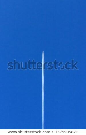 polgári · légi · közlekedés · repülőgép · kék · utazás · repülőgép - stock fotó © aikon