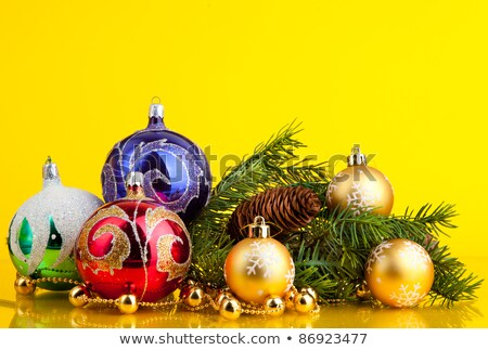 three golden dull christmas balls Stock photo © Rob_Stark