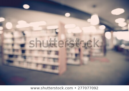 Blured books in public library. Blured effect.  Stock photo © Valeriy