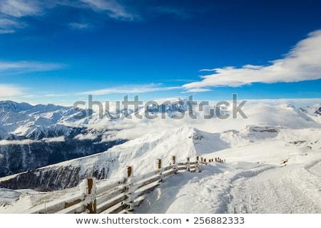 Gyönyörű kilátás sí üdülőhely Alpok tél Stock fotó © kasjato