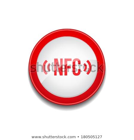NFC Circular Vector Red Web Icon Button Stock photo © rizwanali3d