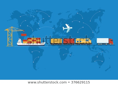 Shipping, delivery car, ship, plane Stock photo © robuart
