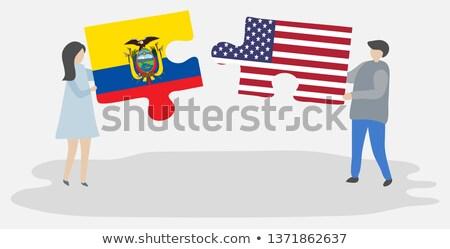США Эквадор флагами головоломки вектора изображение Сток-фото © Istanbul2009