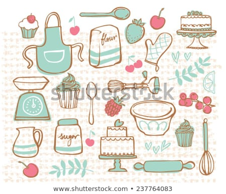 sugar bowl with a wooden spoon Stock photo © nessokv