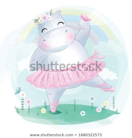 dancing hippo stock photo © derocz