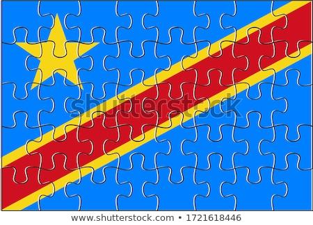 Europeo Unión democrático república Congo banderas Foto stock © Istanbul2009