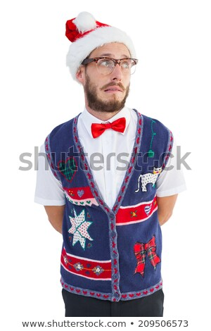 Geeky hipster wearing sweater vest Stock photo © wavebreak_media