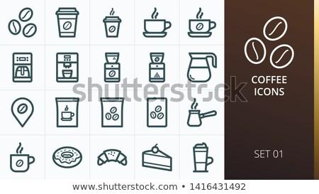сумку кофе красный черный завтрак Сток-фото © sharpner