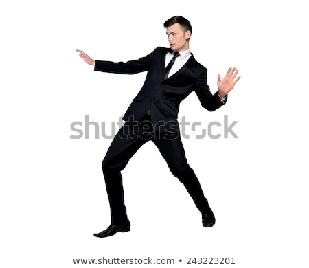 üzletember szörfözik pozició izolált üzletember öltöny Stock fotó © fuzzbones0