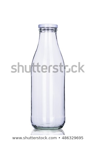 front view of transparent glass bottle stock photo © caimacanul