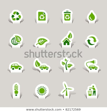 Protegido assinar verde vetor ícone botão Foto stock © rizwanali3d