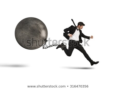 Businessman runs despite impediment Stock photo © alphaspirit
