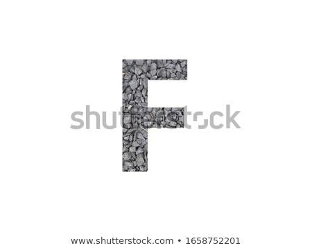 Alfabeto grava aislado blanco vista Foto stock © cherezoff
