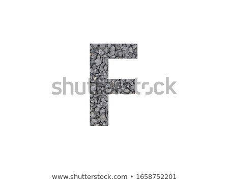 Foto stock: Alphabet Gravel