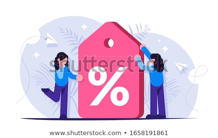 Get 50 Percent Violet Vector Icon Design Stock photo © rizwanali3d