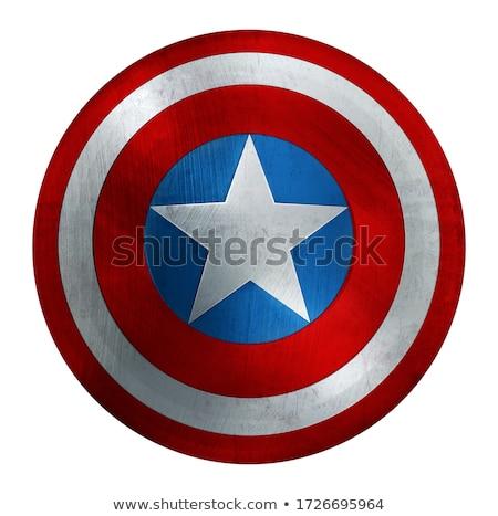 Amerika illustratie Blauw silhouet man Stockfoto © Morphart