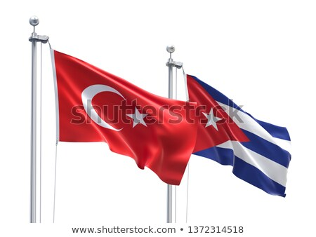 Turkey and Cuba Flags Stock photo © Istanbul2009