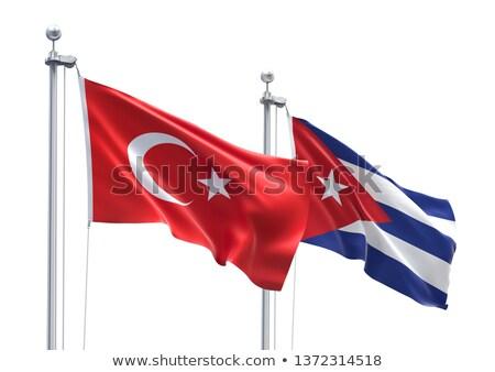 Turcja Kuba flagi puzzle odizolowany biały Zdjęcia stock © Istanbul2009