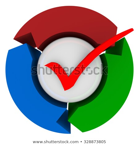 Check Mark Arrows Completed Process System Procedure Stock photo © iqoncept