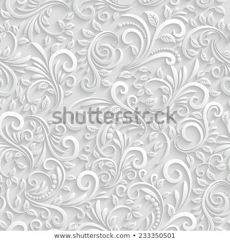 Blanche texture 3D décoratif géométrique Photo stock © ExpressVectors