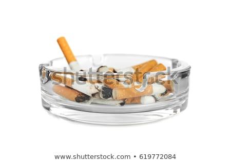Sigara küllük yalıtılmış beyaz Stok fotoğraf © tetkoren