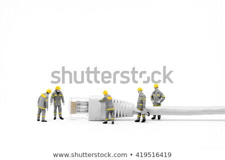 netwerk · kabel · verbinding · internet · werk - stockfoto © kirill_m