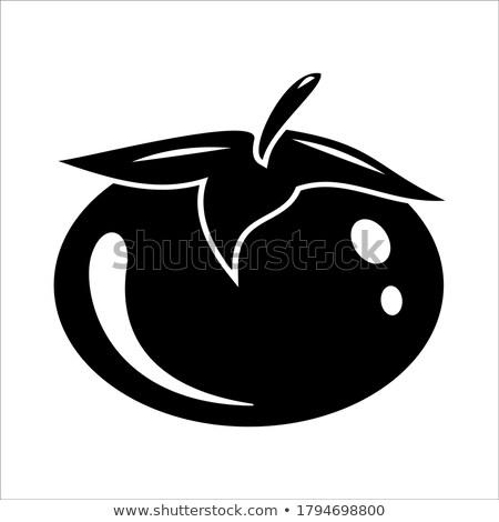 Tomate coeur santé icône médicaux fruits Photo stock © Lightsource