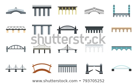 Modern bridge design flat Stock photo © jossdiim