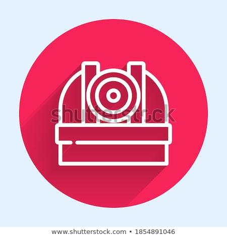 круга Кнопки свет фон красный розовый Сток-фото © bluering