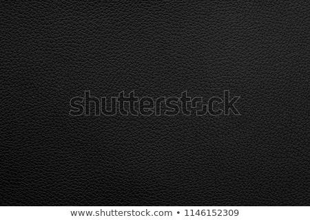 Véritable noir cuir modèle texture tissu Photo stock © photocreo