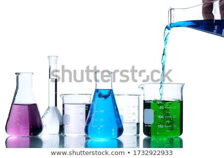 Colourful beakers Stock photo © bluering