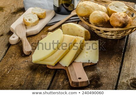 Maturo formaggio croccante vino Foto d'archivio © Peteer