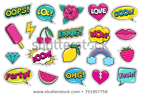 Fashion patches vector illustration © Liliia Kavliuk (kali