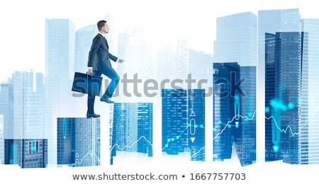 exitoso · imagen · masculina · mano · papel · en · blanco · mirando - foto stock © pressmaster