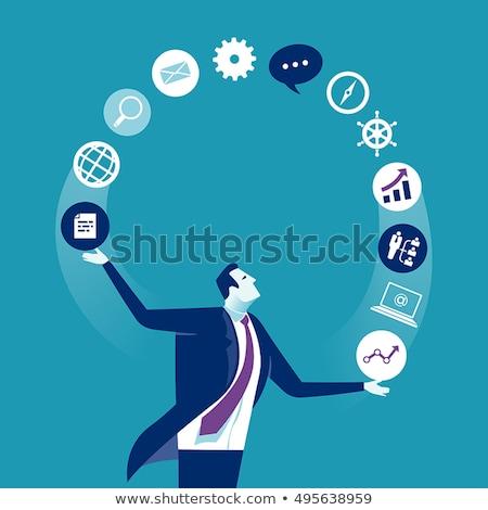 Negócio vitória visão sucesso pensando elementos Foto stock © sgursozlu