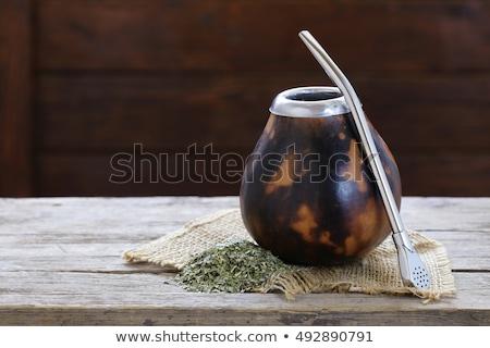 葉 メイト 茶 緑 薬 ストックフォト © jirkaejc