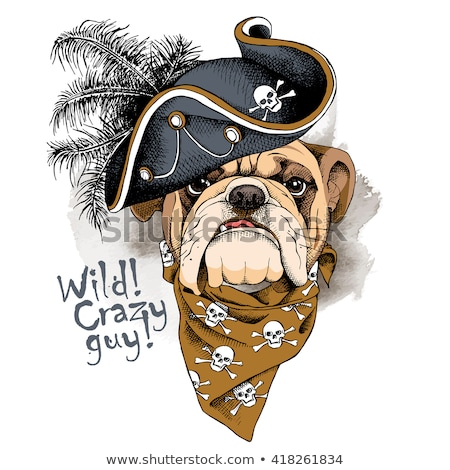 bulldog portrait mascot stock photo © sdcrea