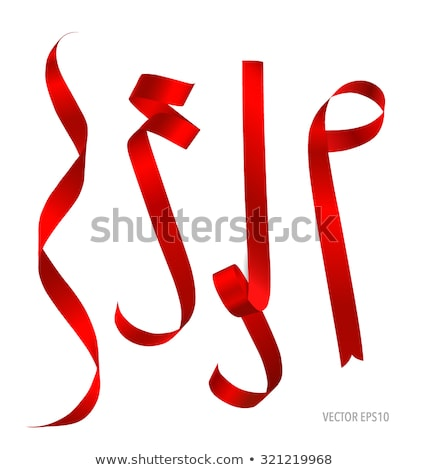Illustration of isolated vector red ribbon Stock photo © Decorwithme