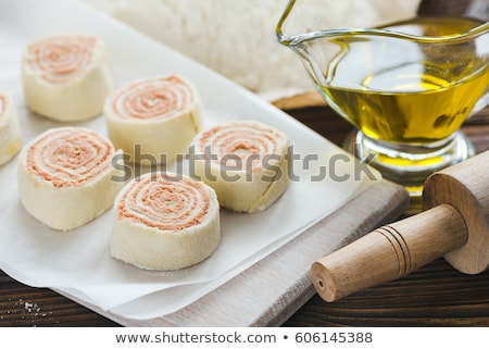 Stock photo: Bread roll with pate