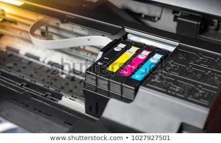 Nyomtató illusztráció nyomtatott fekete szín sajtó Stock fotó © adrenalina