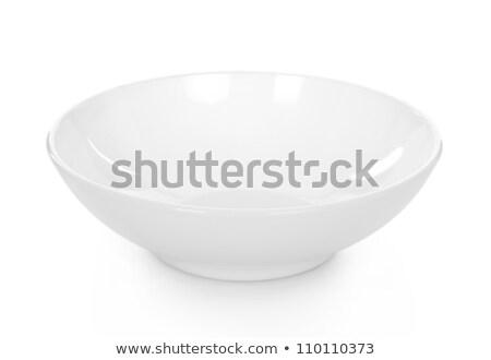 овальный белый чаши пластина чистой блюдо Сток-фото © Digifoodstock