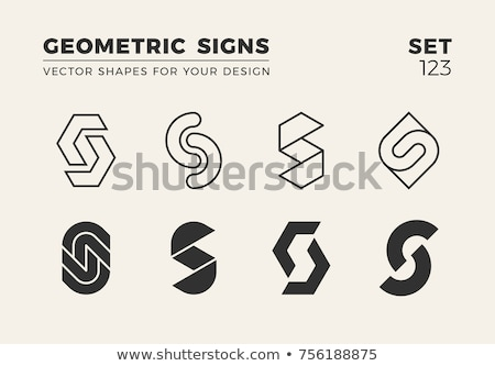 Logo ayarlamak dizayn iş imzalamak mektup Stok fotoğraf © sdCrea