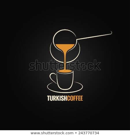 Turks koffie pot lijn icon vector Stockfoto © RAStudio