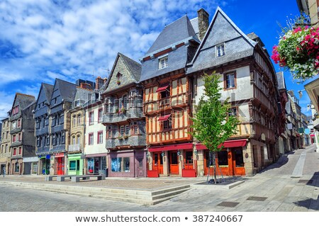Historical city center of Lannion, Brittany, France Stock photo © Xantana
