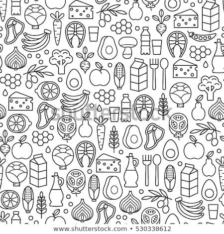 moshroom icons seamless pattern Stock photo © glorcza