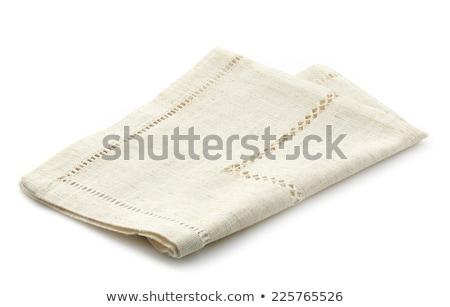 embroidered white napkin Stock photo © Digifoodstock
