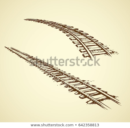 Infinity Railway Track Stock photo © albund