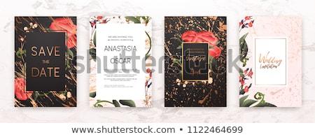 Mínimo verde geométrico cartão de visita modelo de design negócio Foto stock © SArts